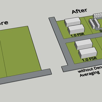 Illustration of Density Averaging