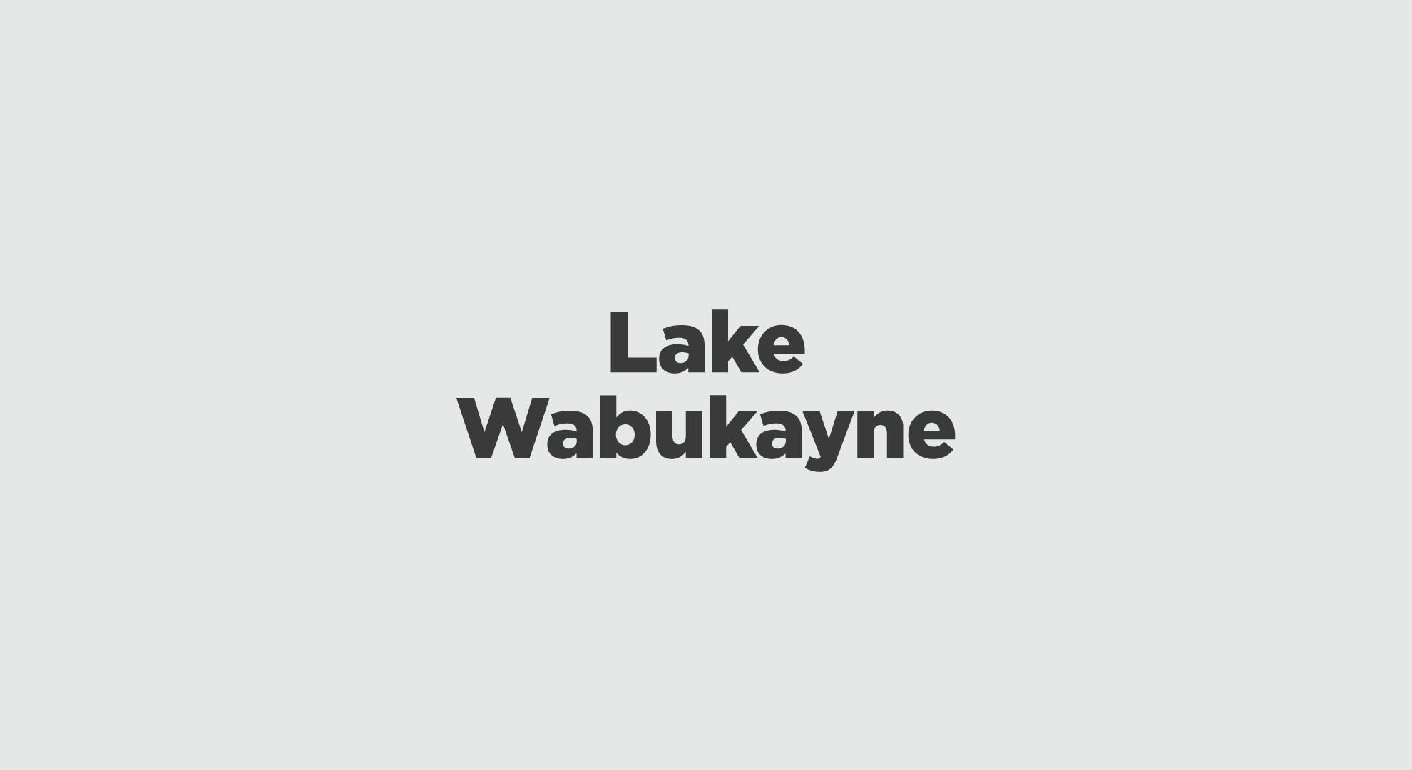 Lake Wabukayne Graphic
