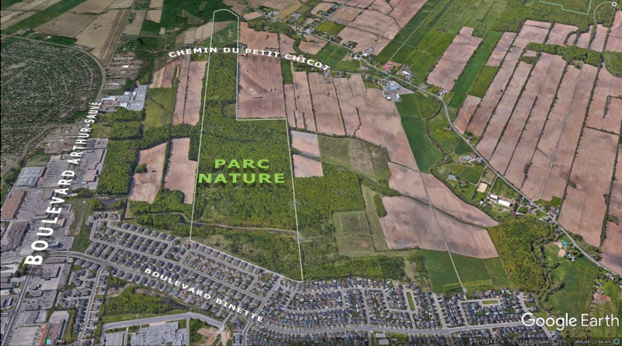 Localisation du futur parc nature