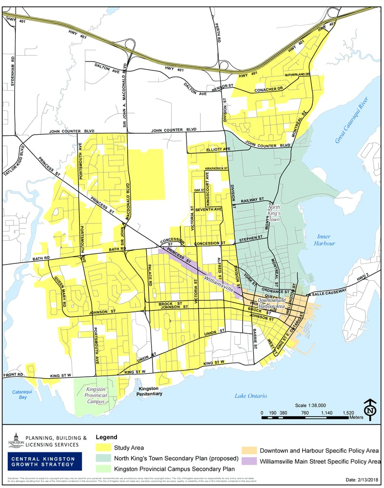Central Kingston Growth Study Area Map
