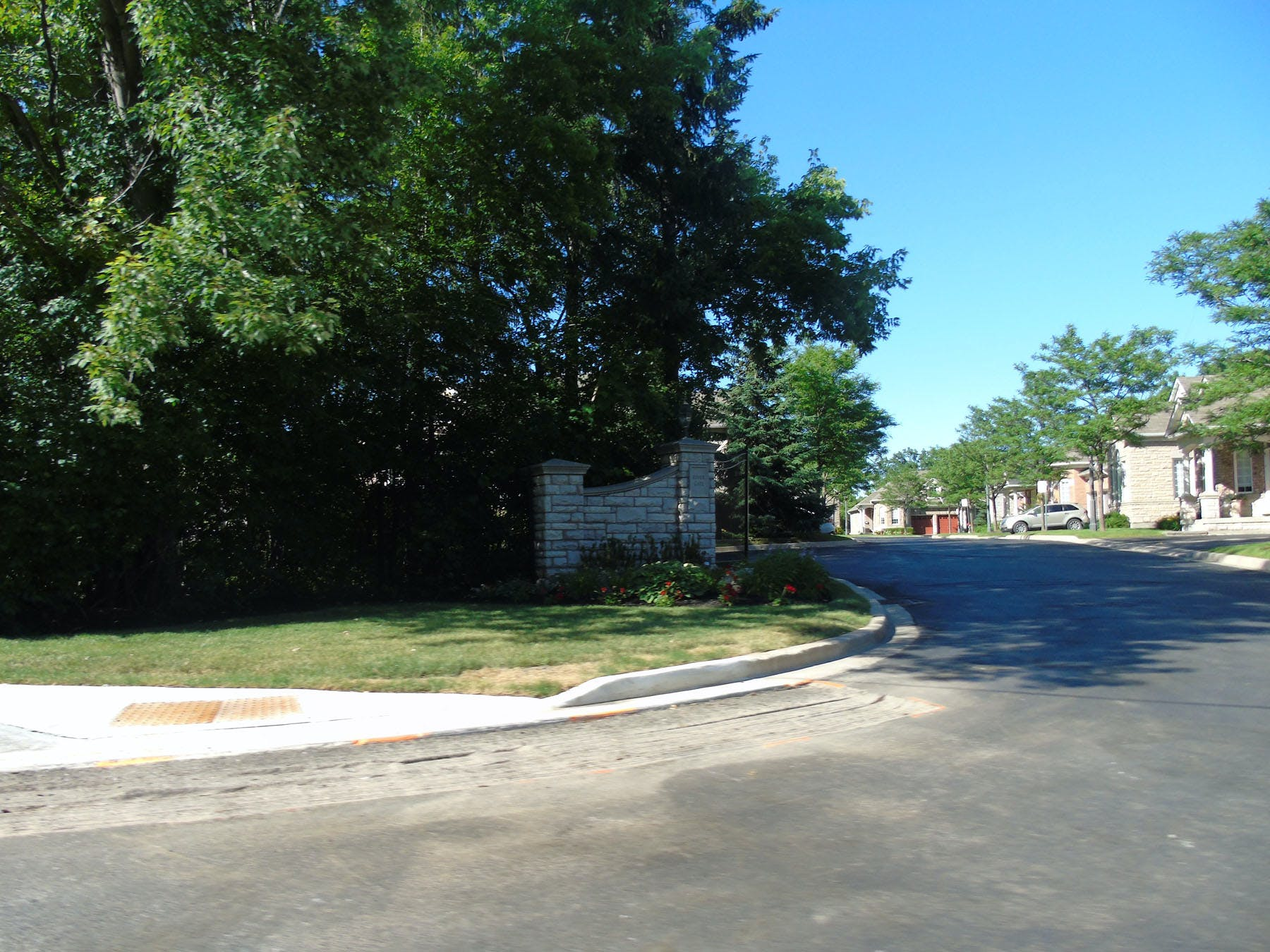 Residential areas along the Creditview Road Scenic Corridor