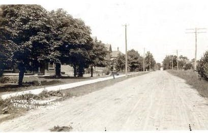 The historical roadway, circa 1910