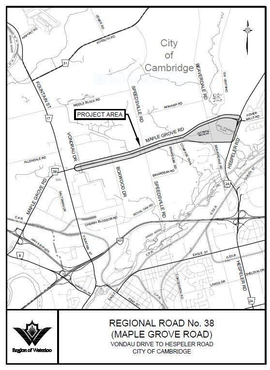 Maple Grove Road Improvements Key Plan