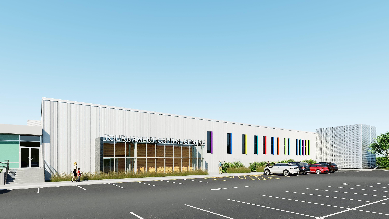 Rendering: East facade
