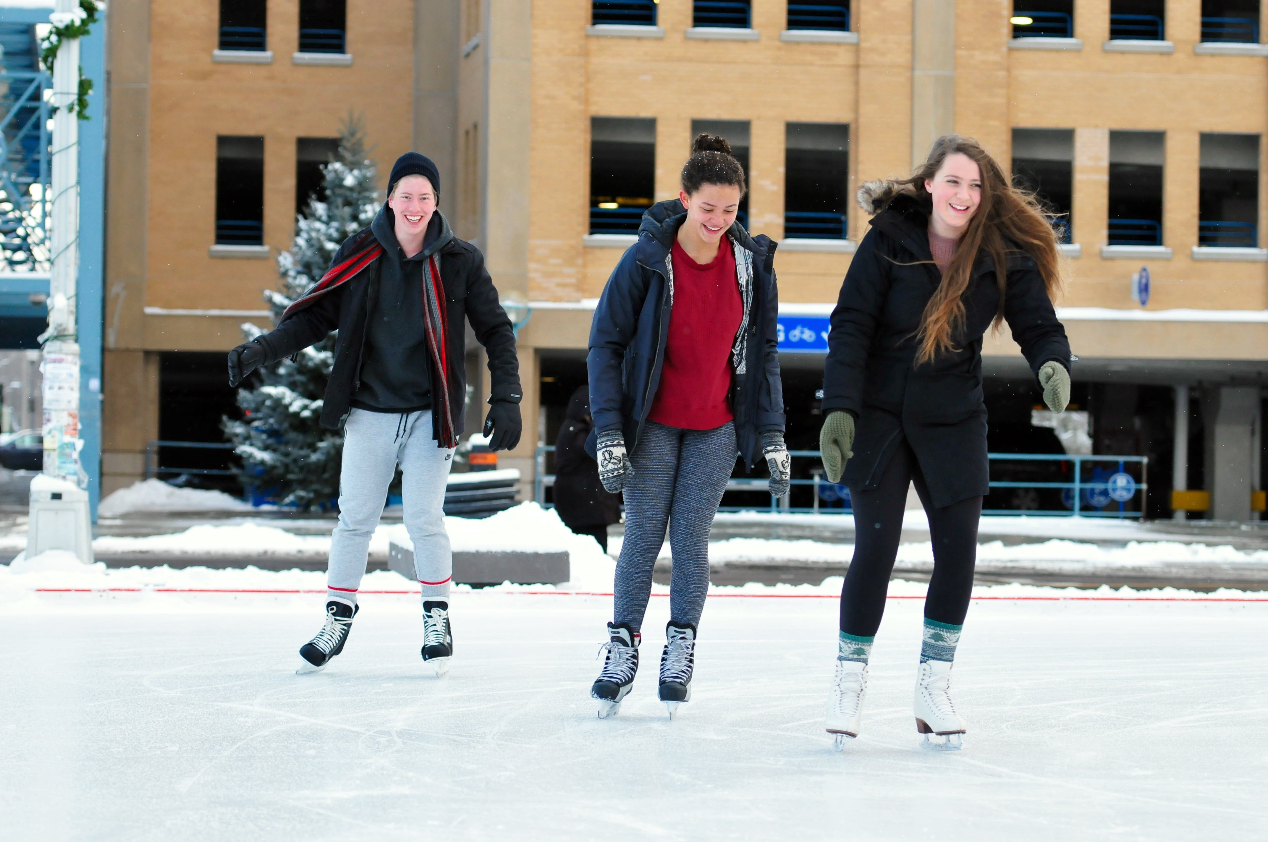 Ice skating at the Waterloo Public Square rink