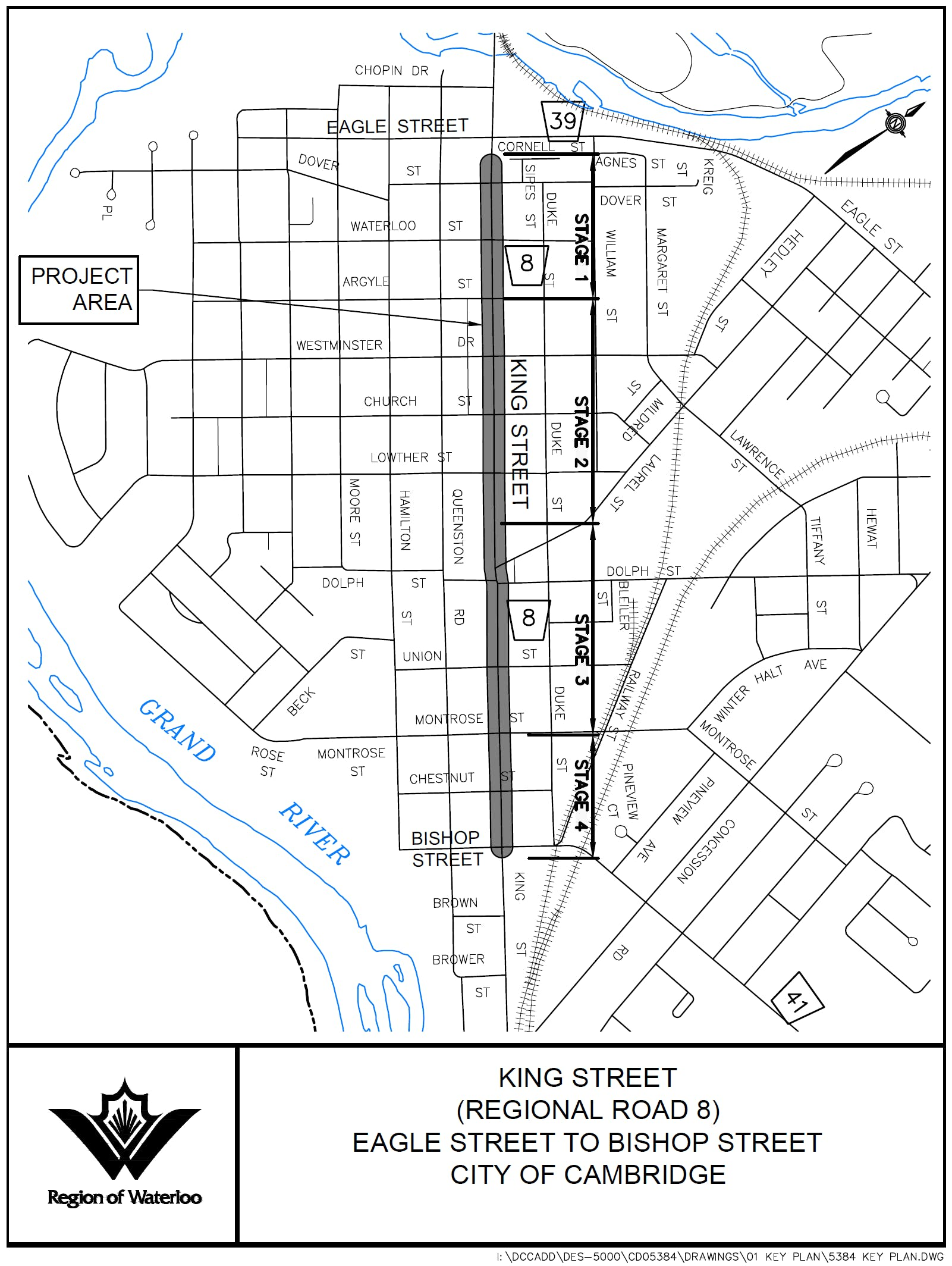 King St Key Plan