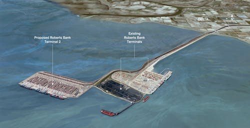 Roberts Bank Terminal 2 Project rendering