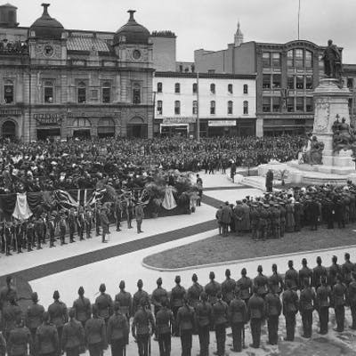 Monument au Roi Édouard - Square Phillips, 1914
