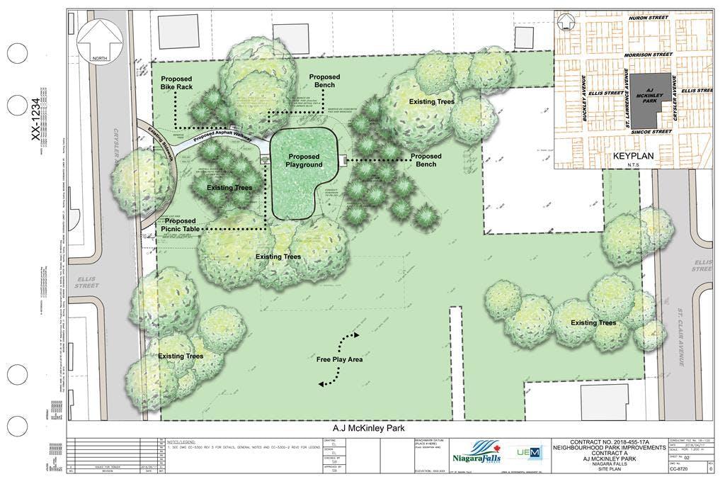 AJ McKinley Park Concept Plan Rendered