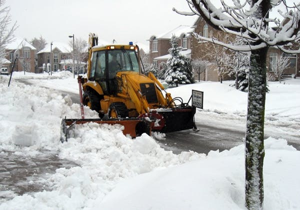 Snow Windrow Clearing Machine