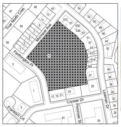 Gray Site - The Gray Arena site is a 4.7-acre corner lot with access off of Monique Avenue and Farthington Place in Dartmouth.