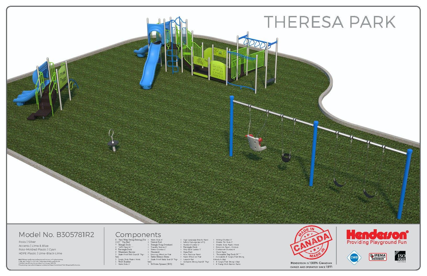Theresa Park Playground Rendering