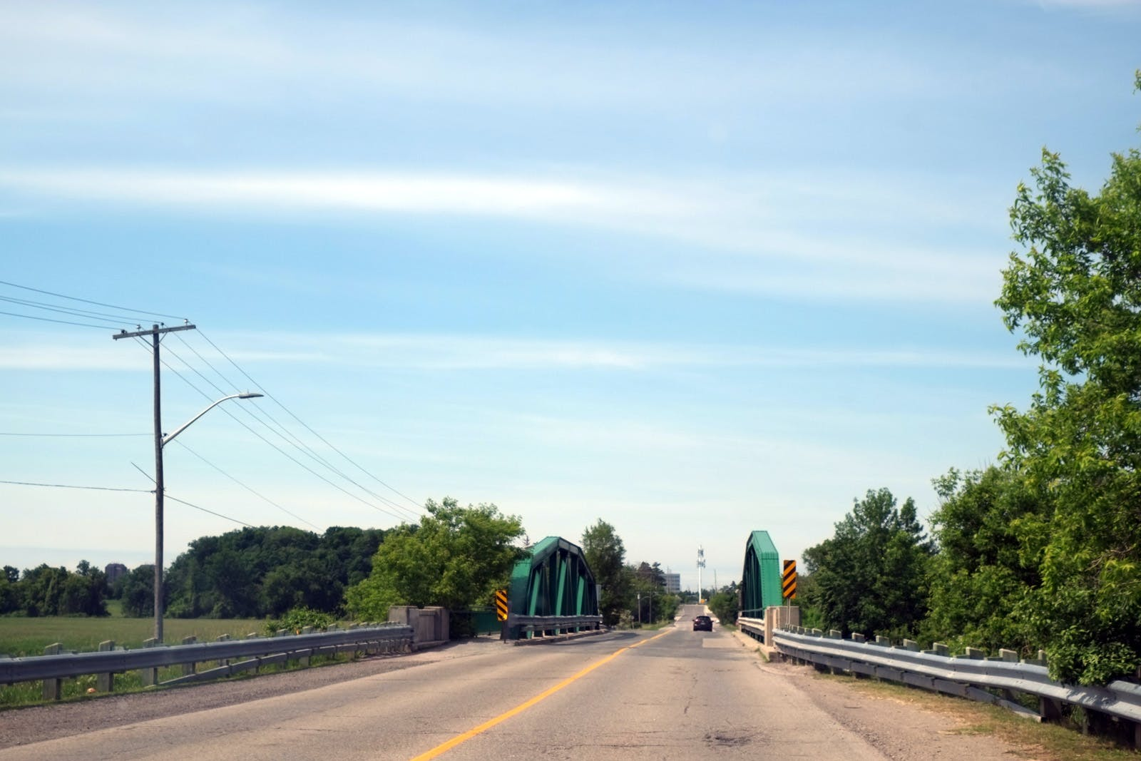 Views of the bridge carrying Old Derry Road over the Credit River