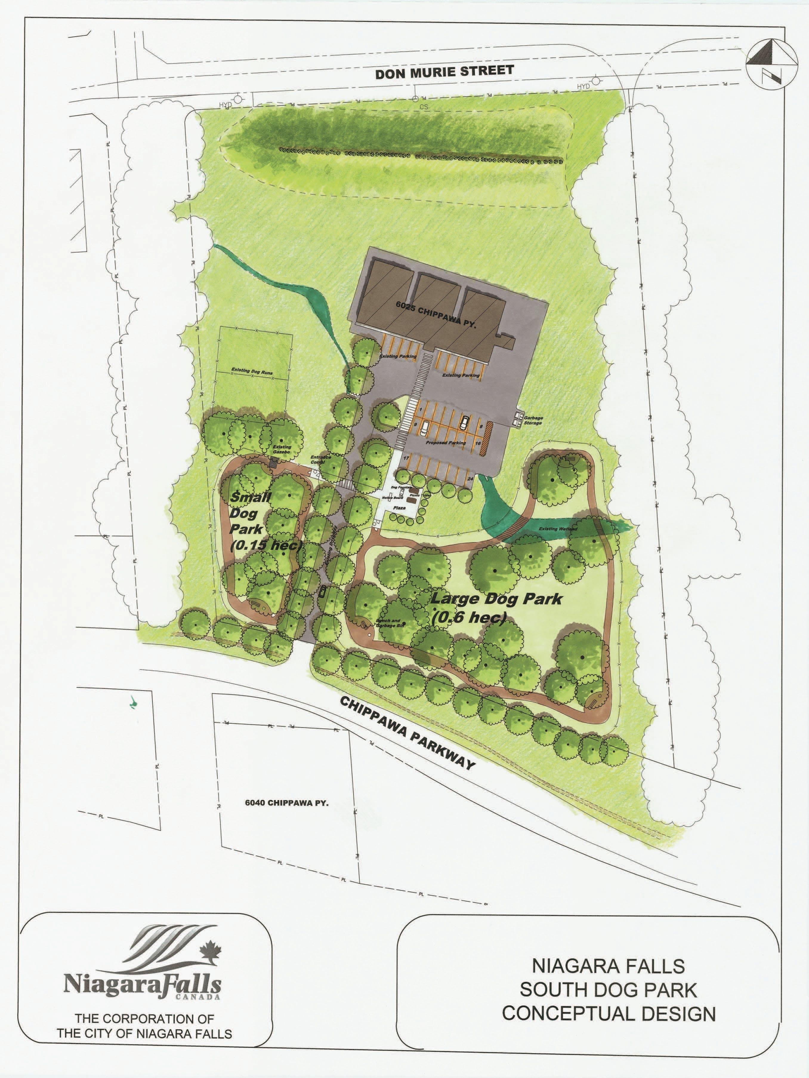 Niagara Falls South Dog Park Conceptual Design