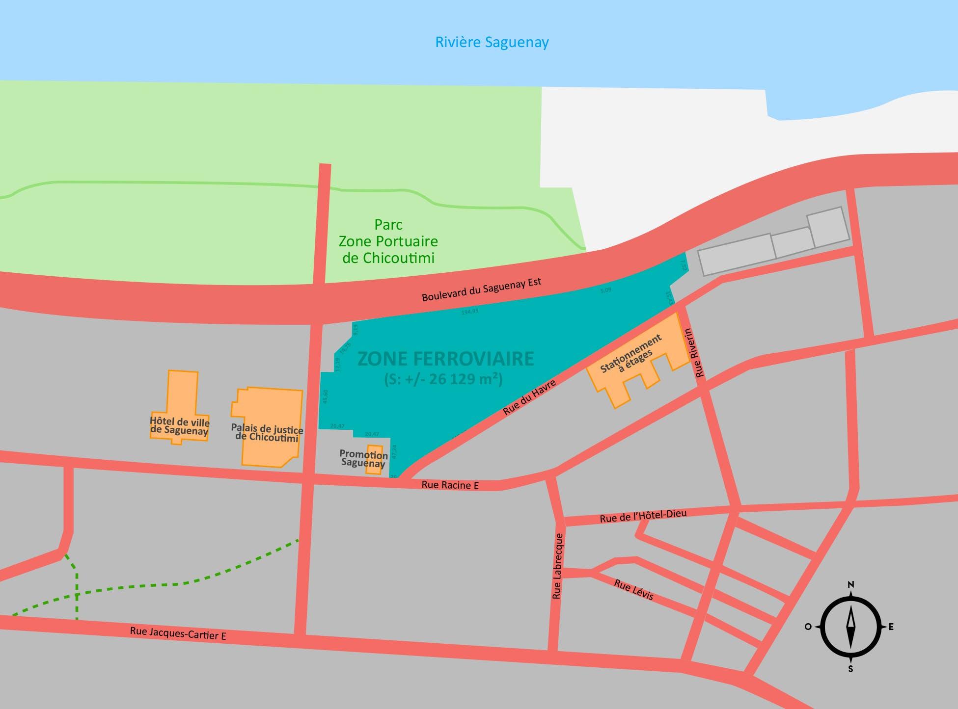 Carte Canada Chicoutimi.Avenir De La Zone Ferroviaire De L Arrondissement De Chicoutimi