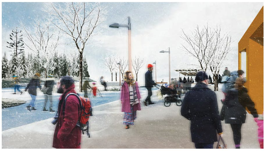 Town Square Architects Rendering, Winter