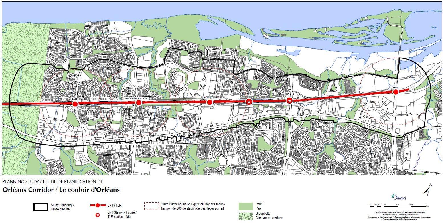 Orleans Corridor Map