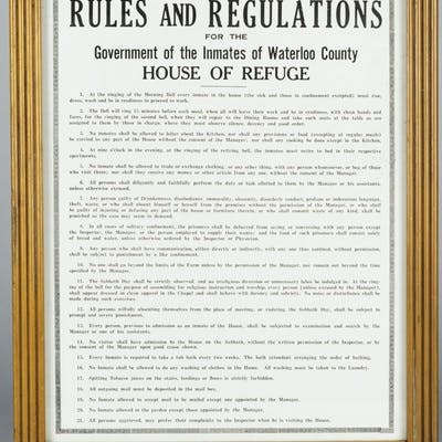 House of Industry and Refuge Rules