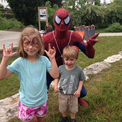 Visit from Spiderman!