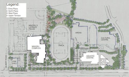 Minoru Precinct - Proposed public realm master plan