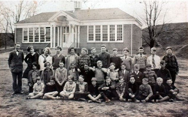 Class at Erindale Public School, circa 1924