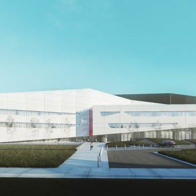 Concept Drawing of New Edmonton Lab Hub, from South