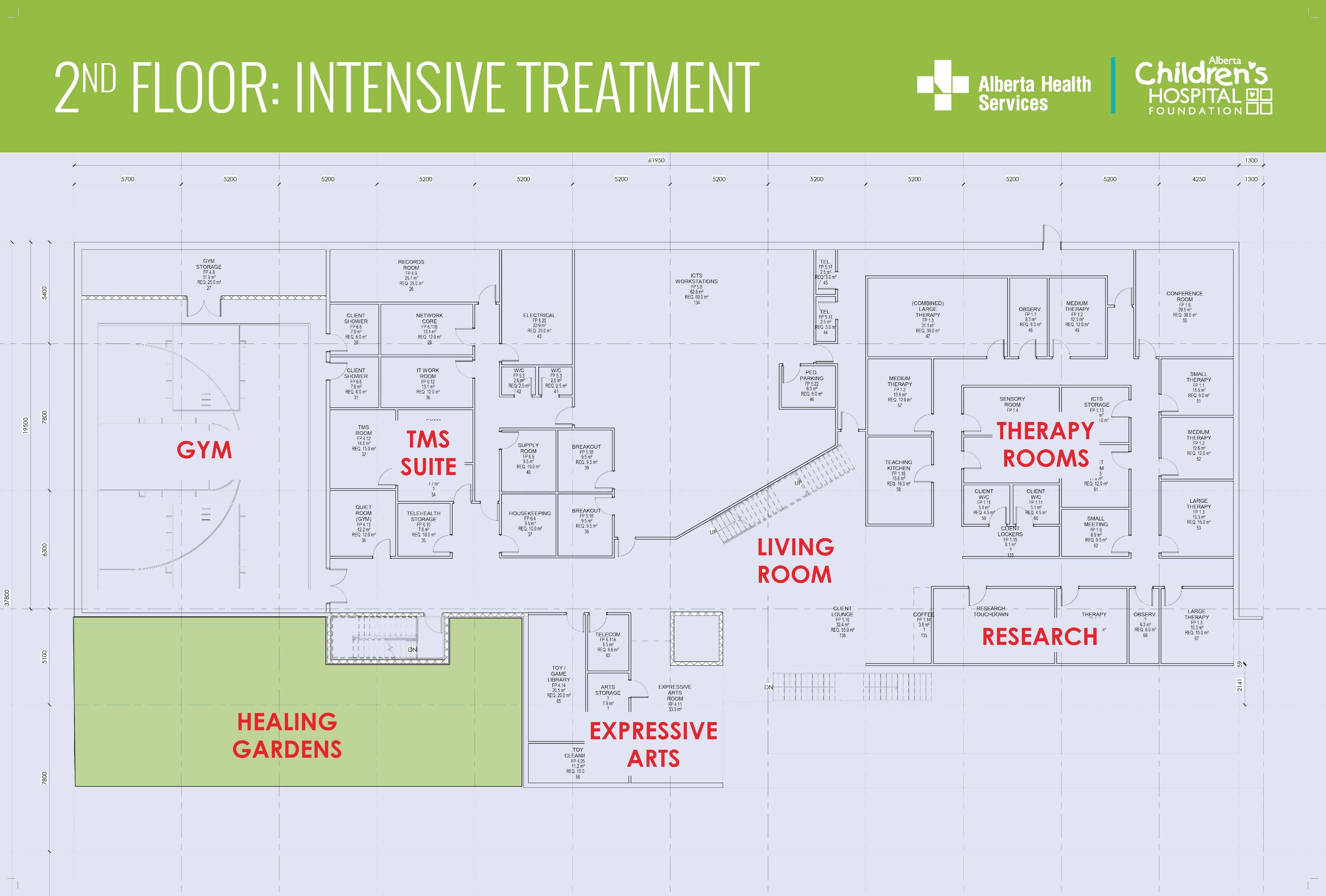 Intensive treatment service floor plan