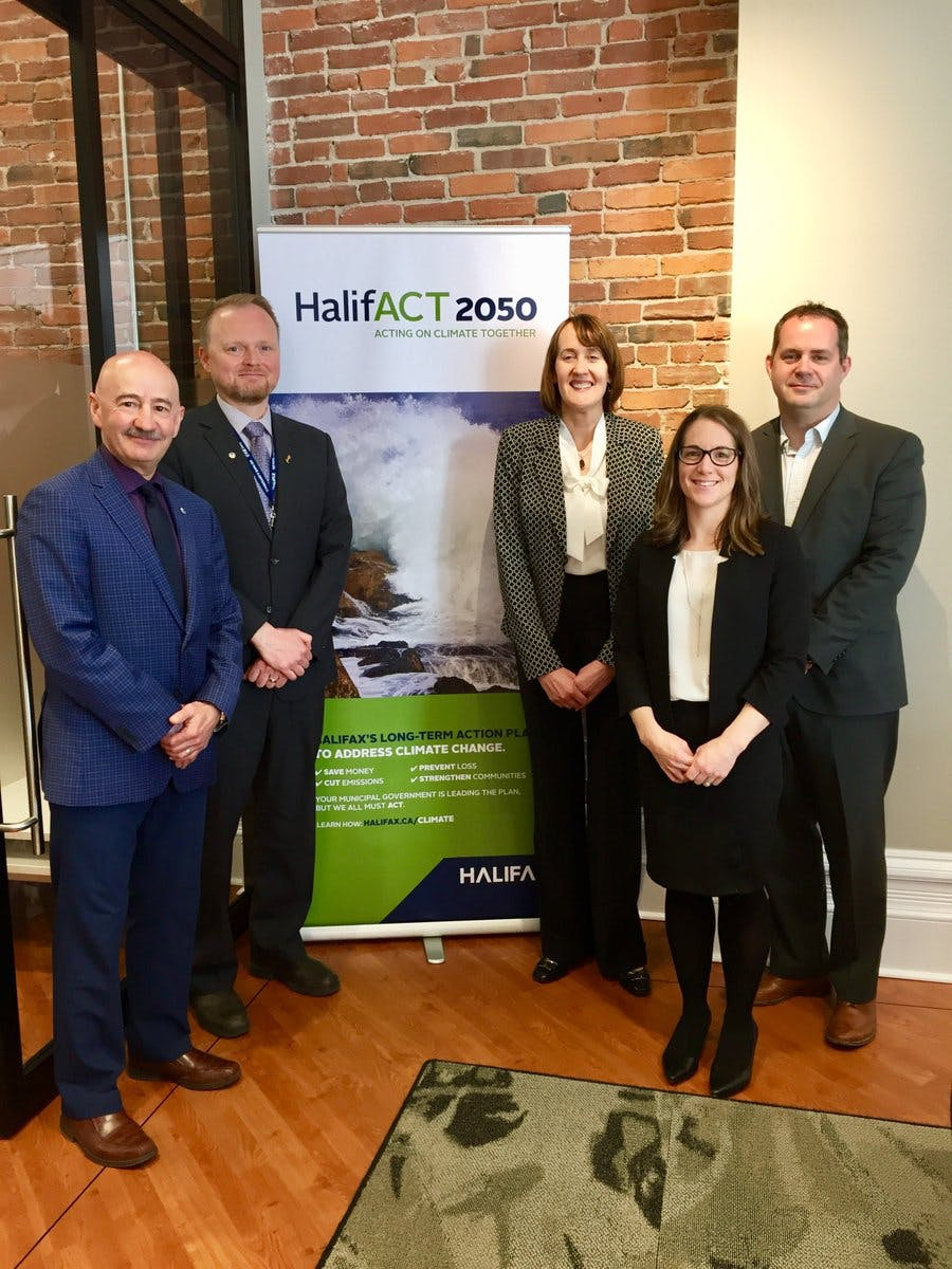 The HalifACT team meets with Canadian Ambassador for Climate Change, Patricia Fuller