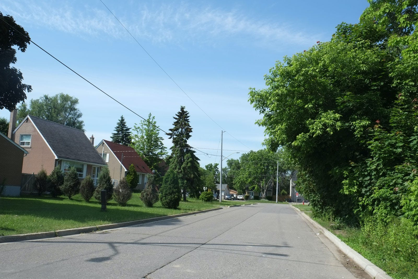 Street view showing a row of Victory housing