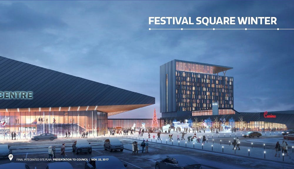 Festival Square Rendering Winter