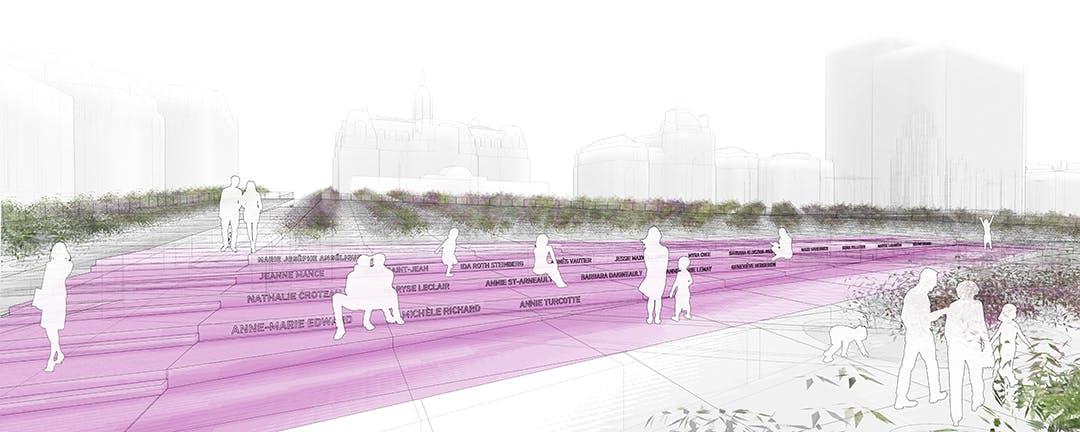 Place des Montréalaises - Design concept