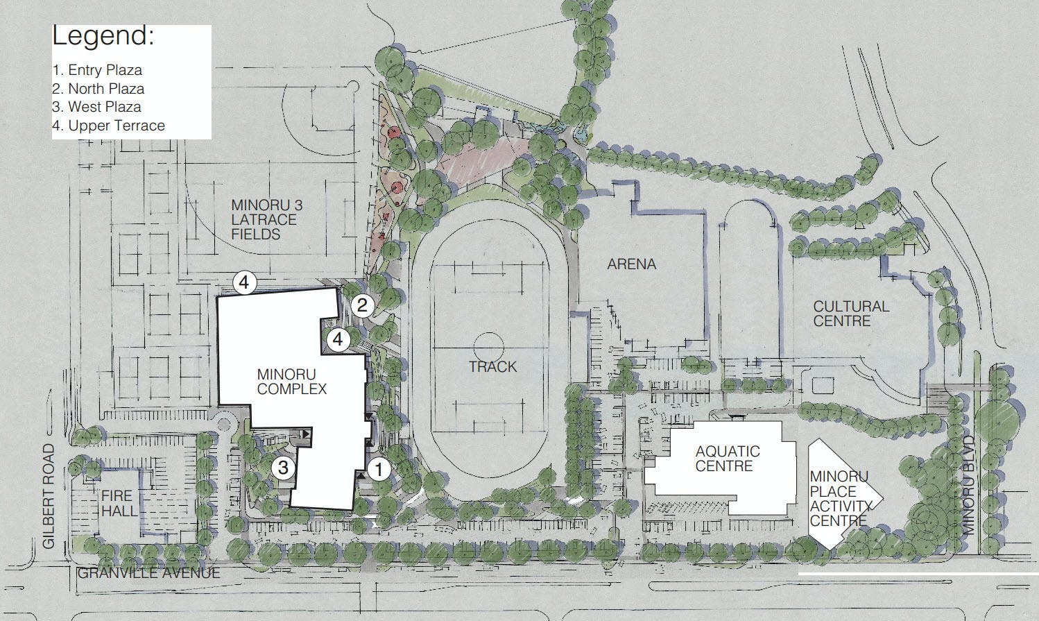 Minoru Precinct - Proposed public realm master plan