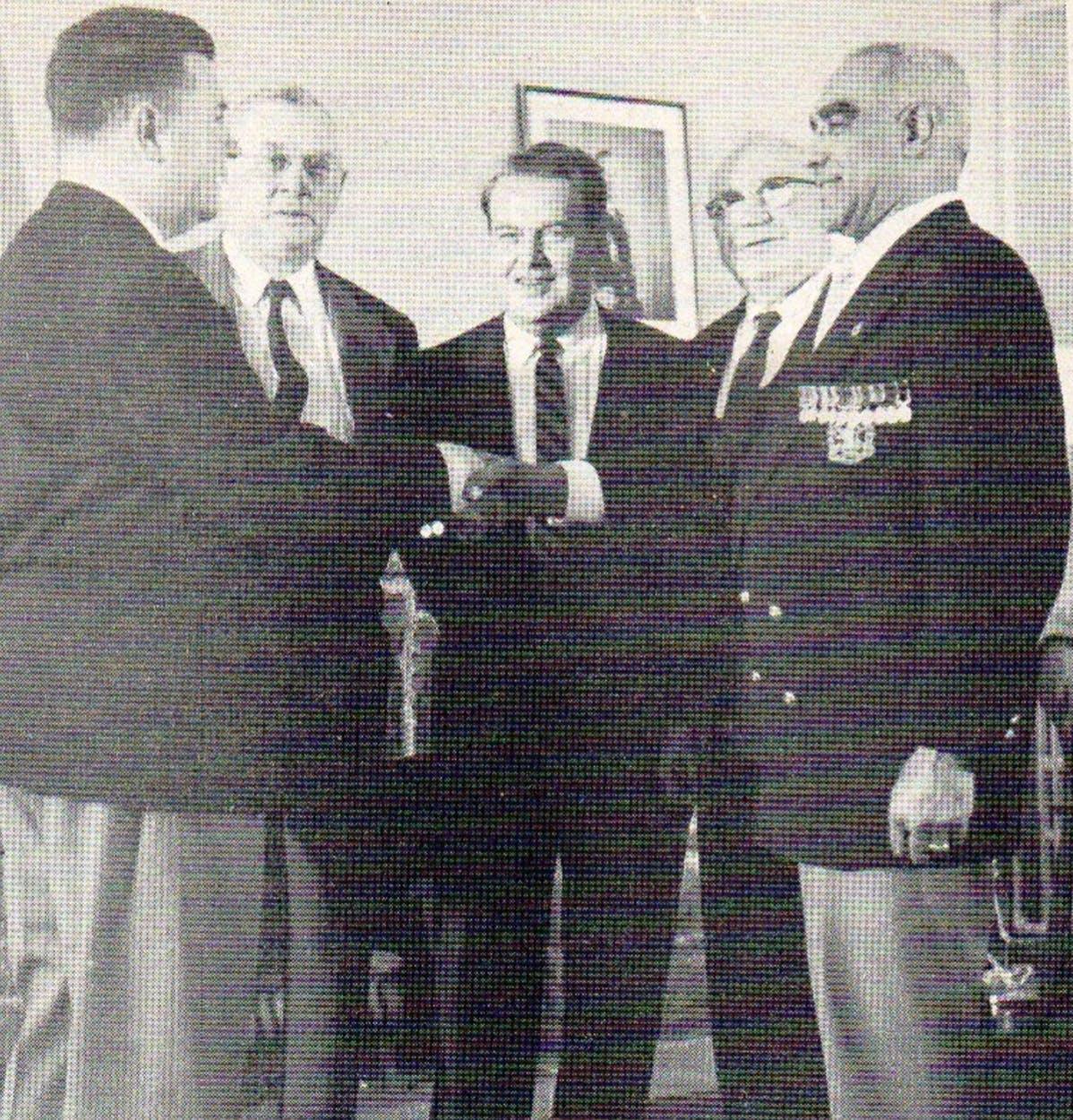 Henry Shepherd receiving medal