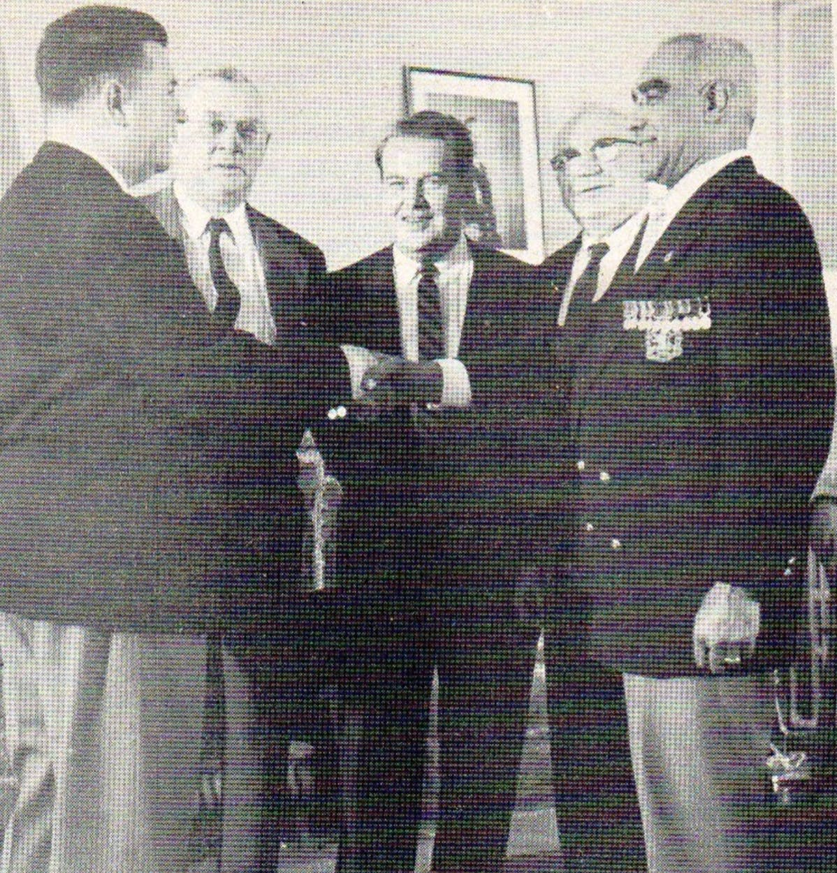 Henry Shepherd receiving medal