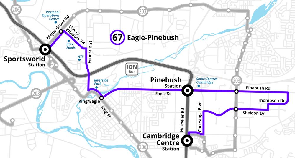 Route 67 Eagle-Pinebush
