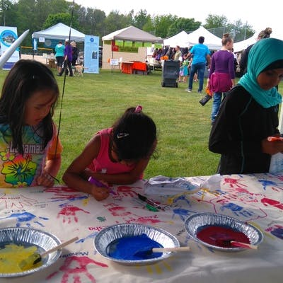 Some kids making their mark at the Multicultural Festival