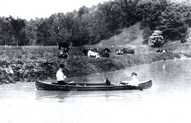 Canoeing the Credit River, 1907