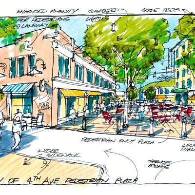 4th Ave Pedestrian Plaza