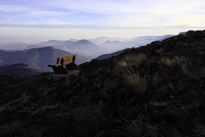 Le banc des couchers de soleil au Mont Kobau