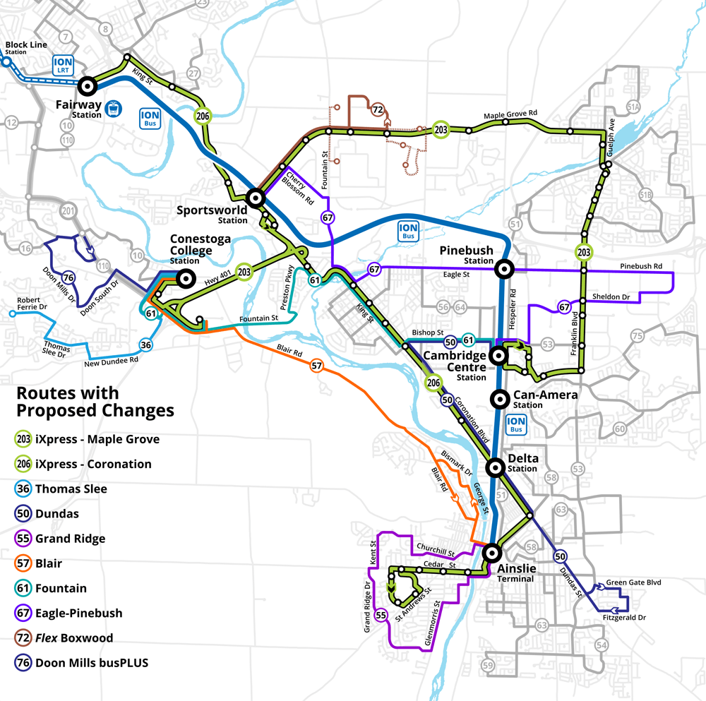 2019 Service Improvements Map