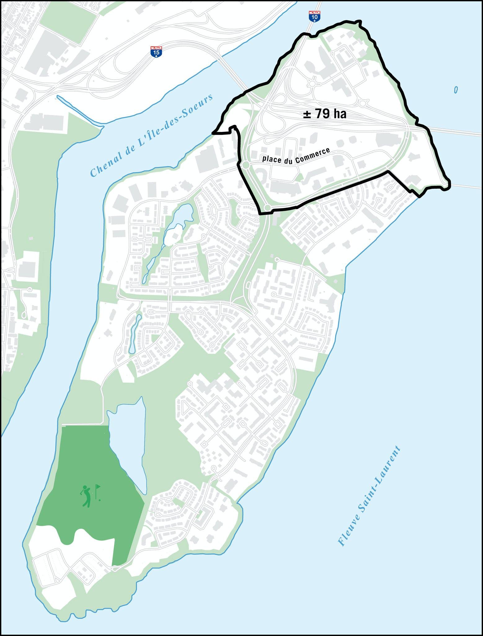 Carte de L'Île-des-Soeurs