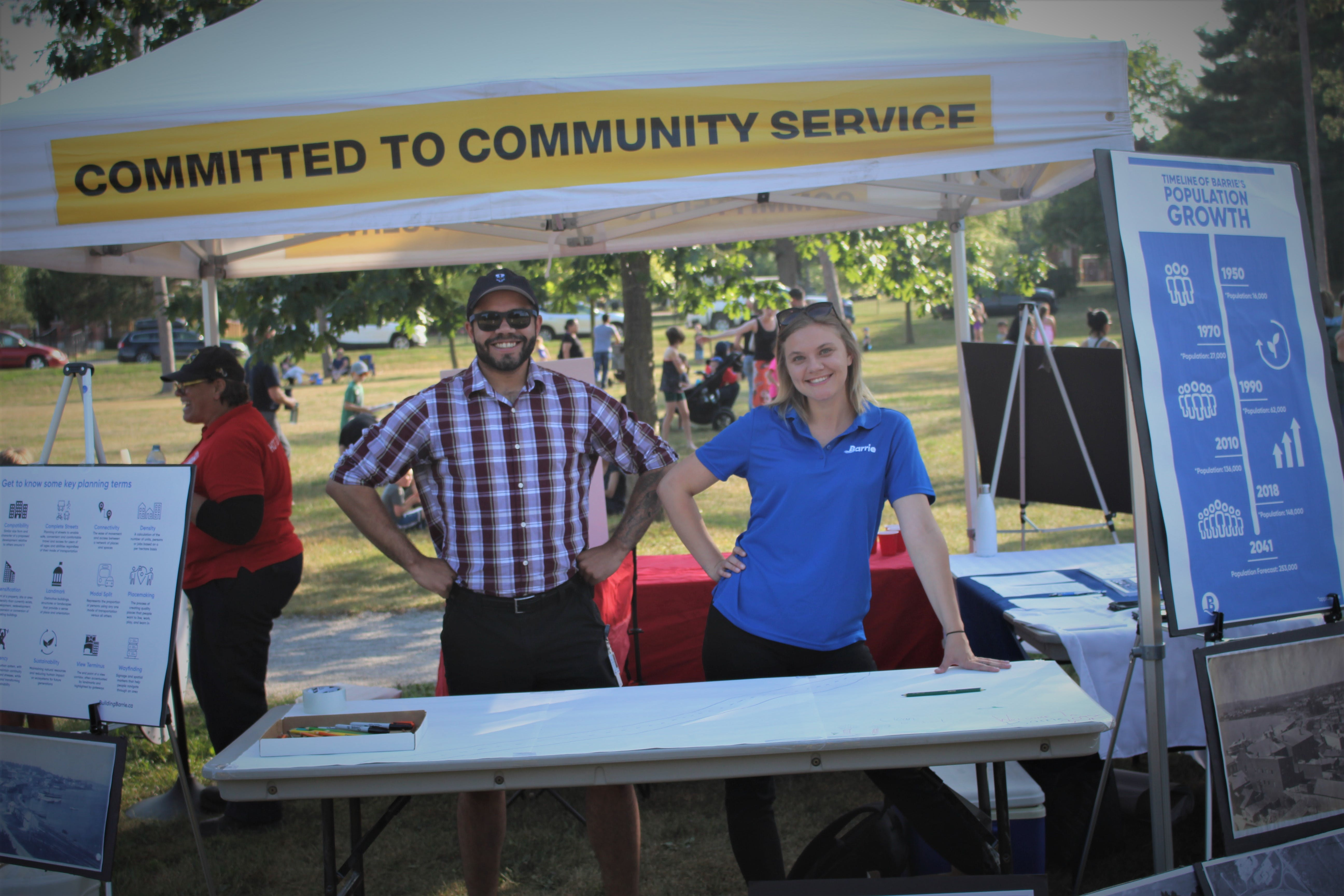 Planning Staff providing information about the Official Plan Project at Barrie Fire and Emergency Service's Hot Summer Nights event