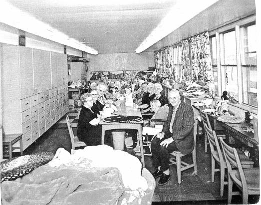 Sewing Room at old Sunnyside Home