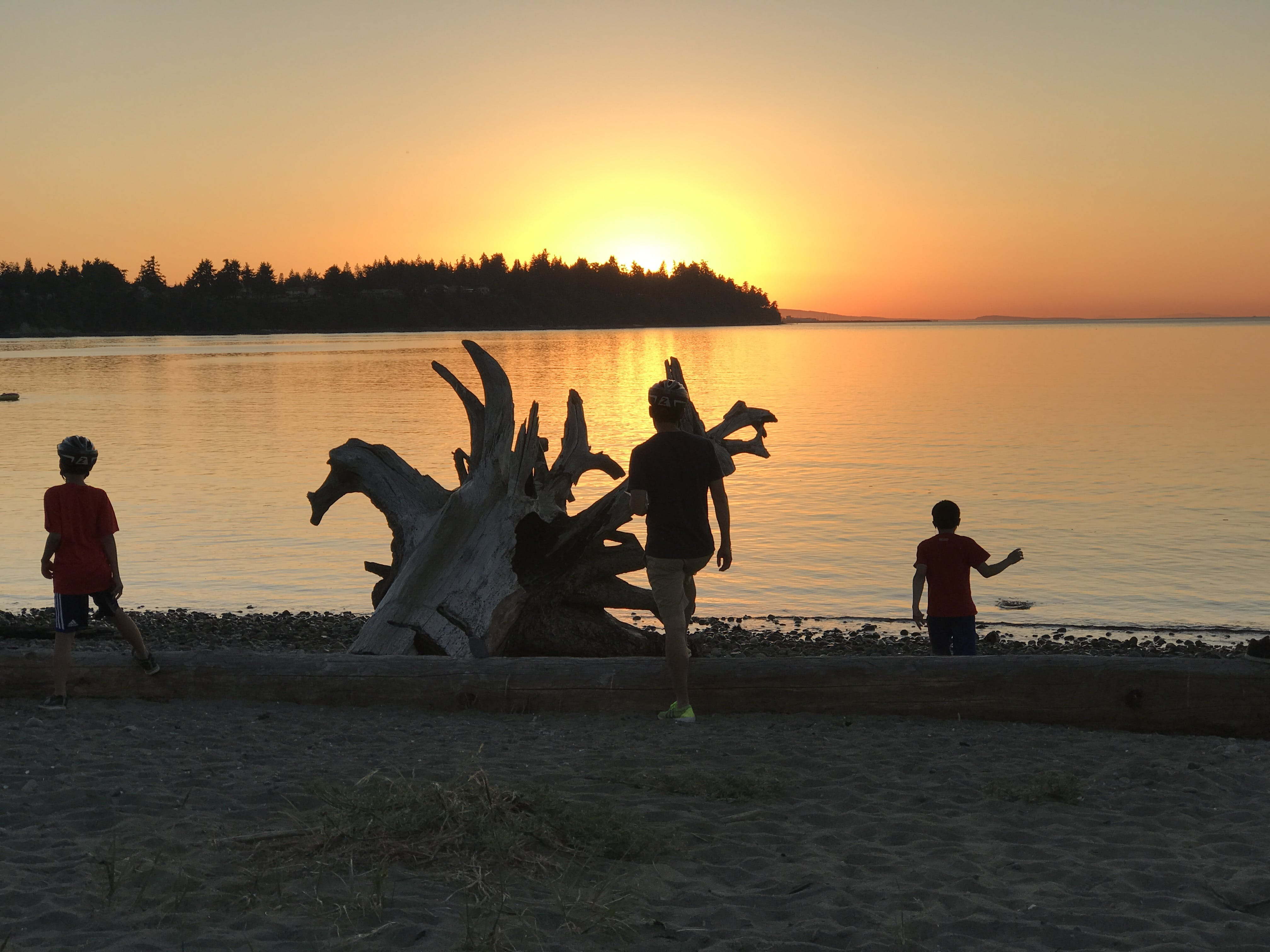 Parksville Bay at sunset