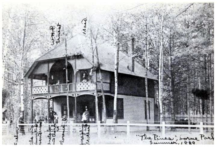 The Pines, one of the few remaining cottages of Lorne Park, in its original form, circa 1910