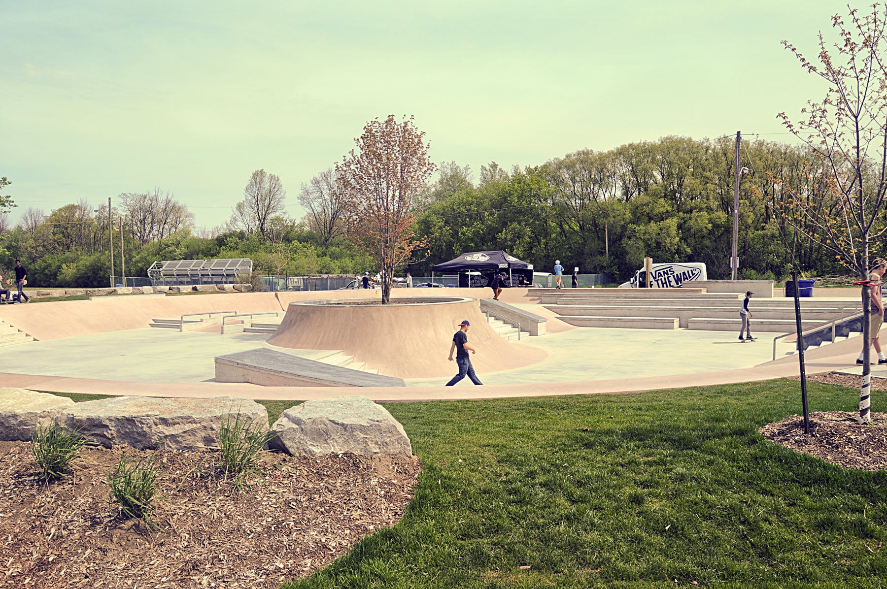 Skateboard park in Waterloo Park