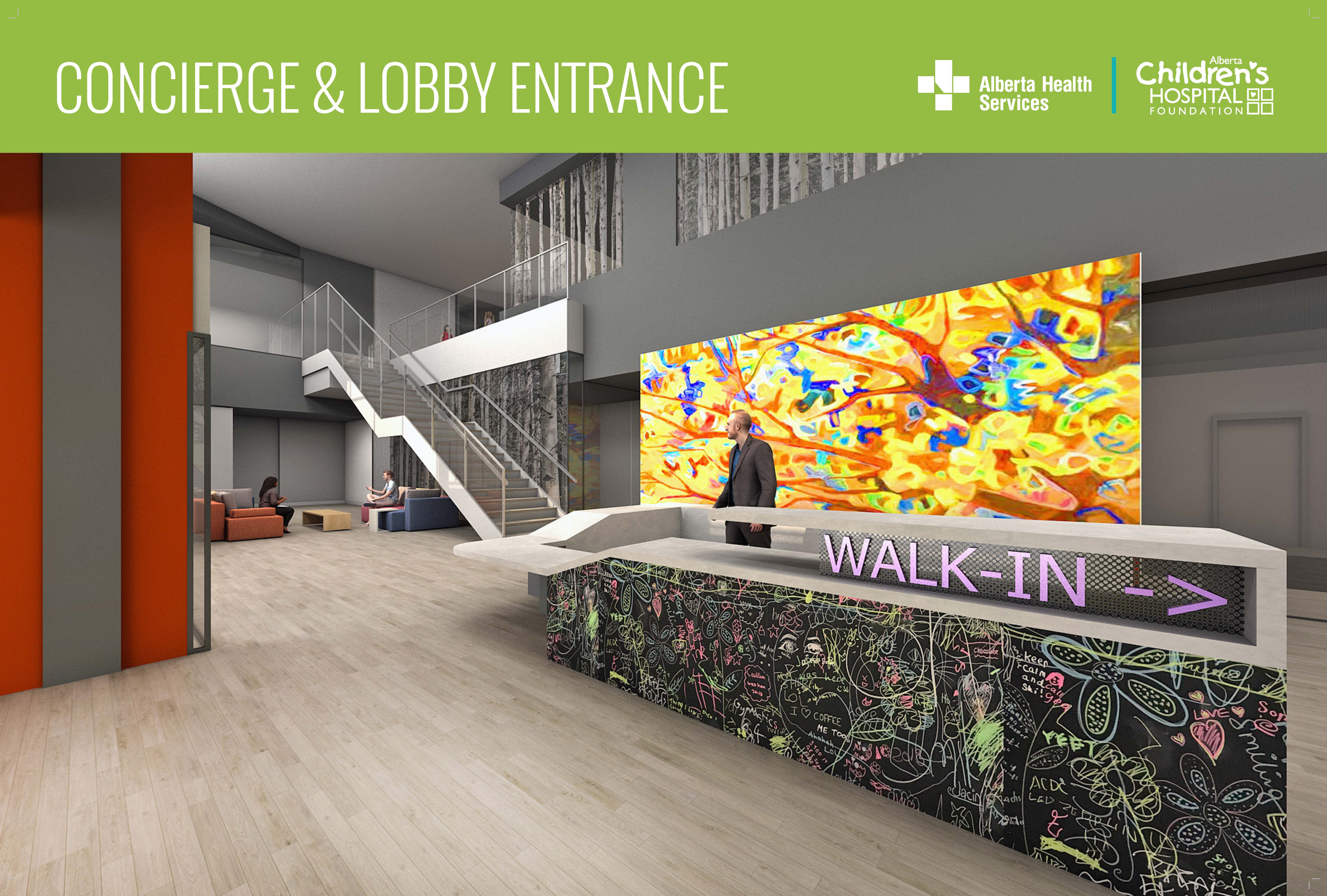 Concierge and lobby entrance