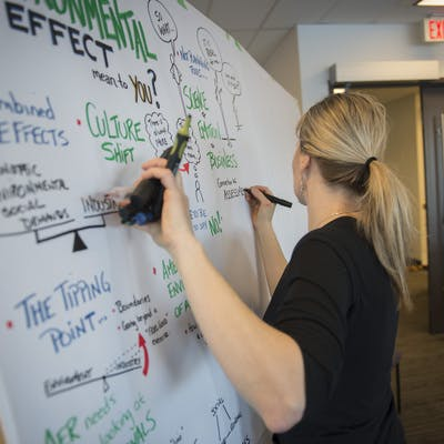 Graphic facilitator at a recent MSEAC meeting