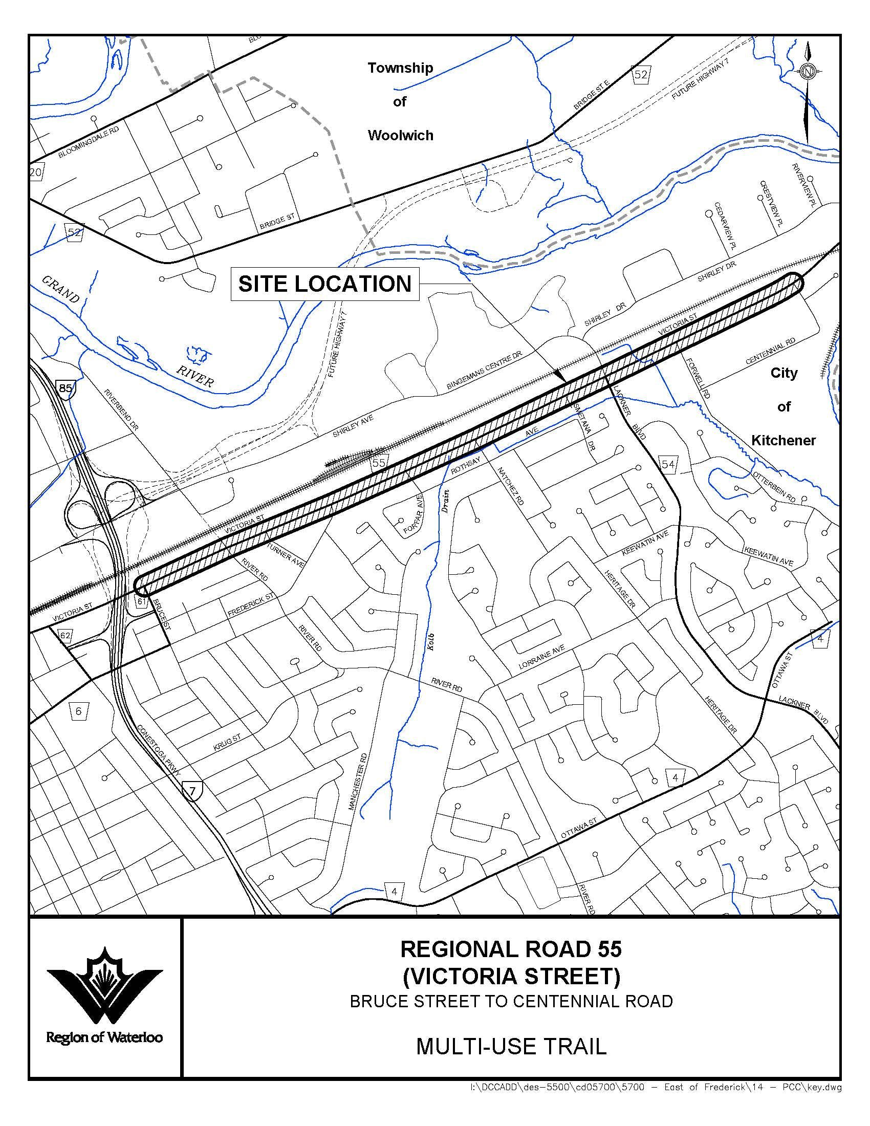 Victoria Street Key Plan