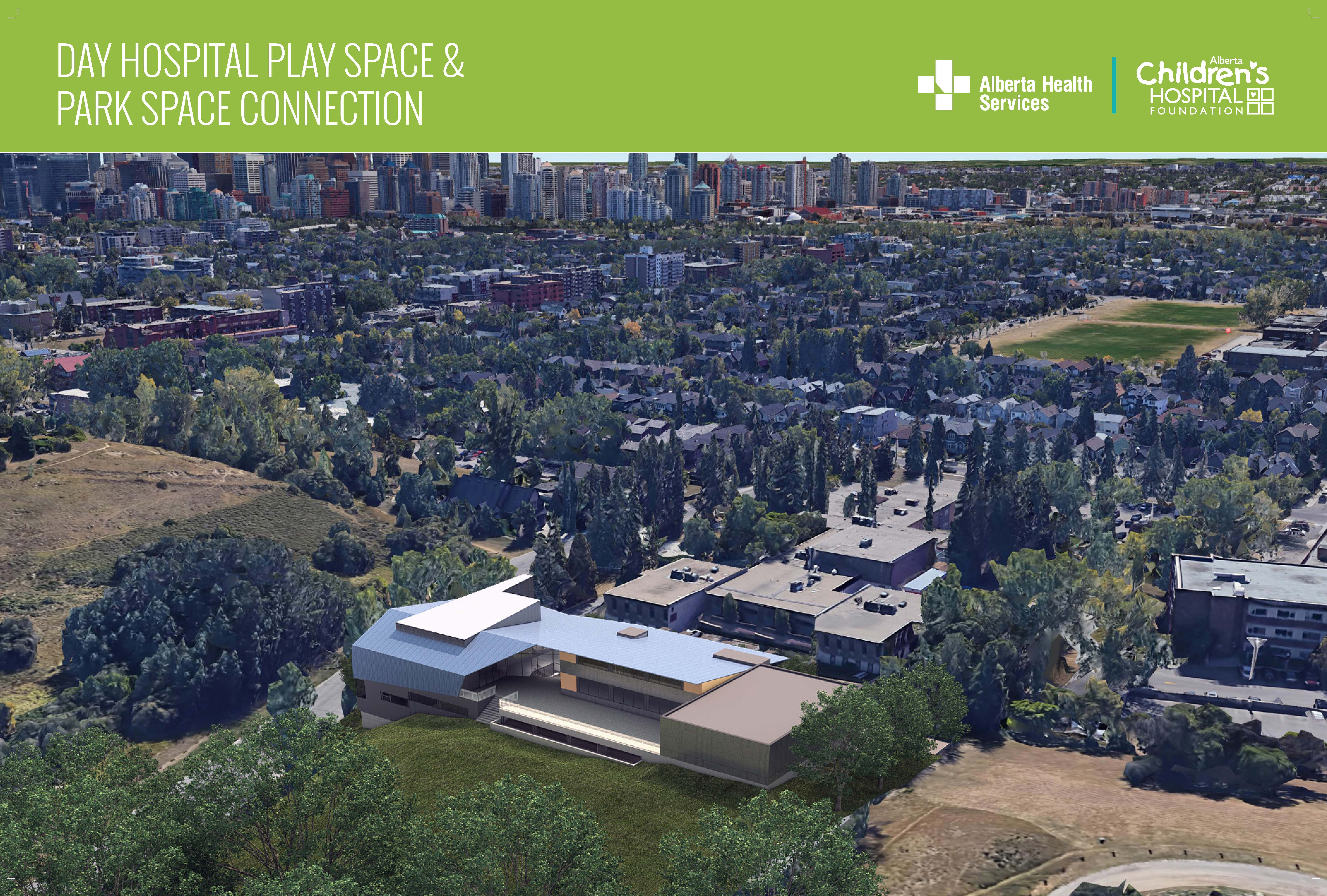 Day hospital play space and park connection